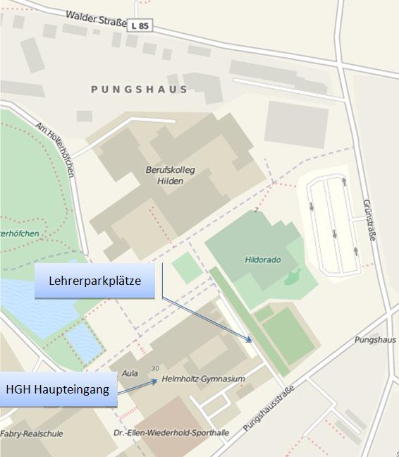 Anfahrtskarte HGH OpenStreetMap