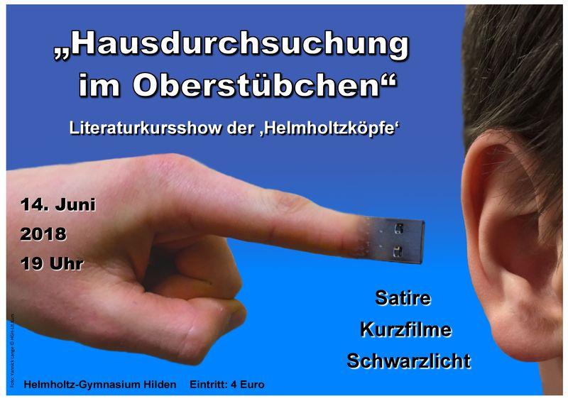 """""""Hausdurchsuchung im Oberstübchen"""" - HGH Literaturkurs"""