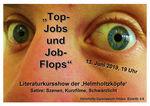 'Top-Jobs und Job-Flops' Literaturkursshow HGH Plakat