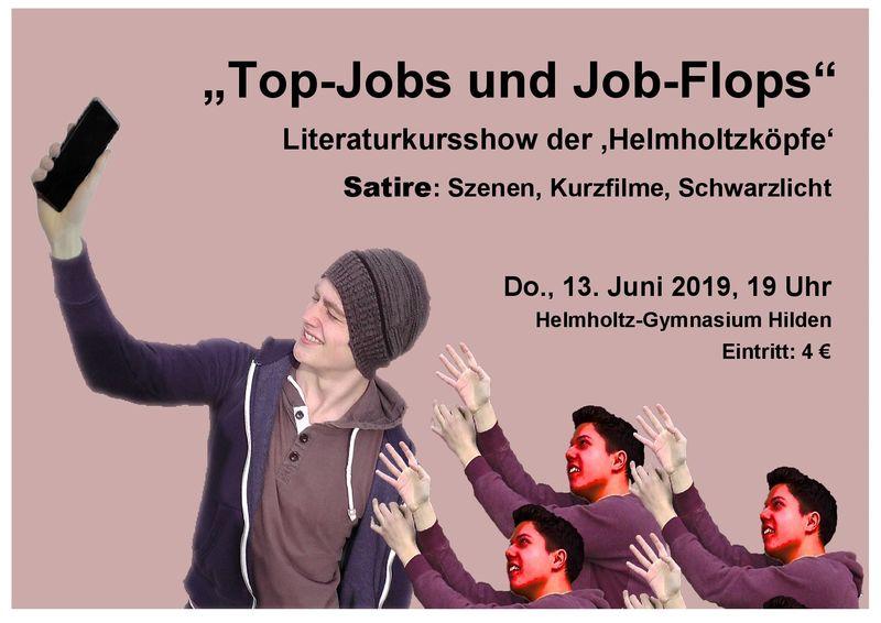 Plakat 'Tob-Jobs und Job-Flops' Literaturkurs HGH 2