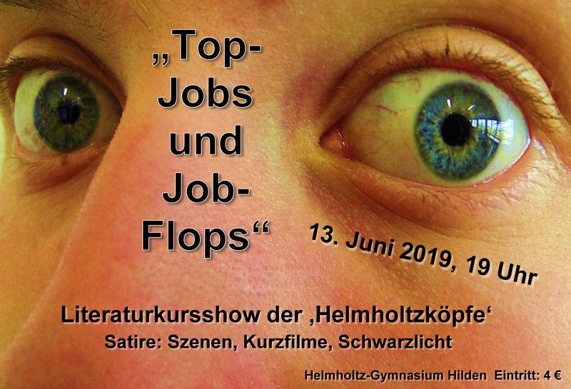 Plakat 'Top-Jobs und Job-Flops' Literaturkursshow HGH