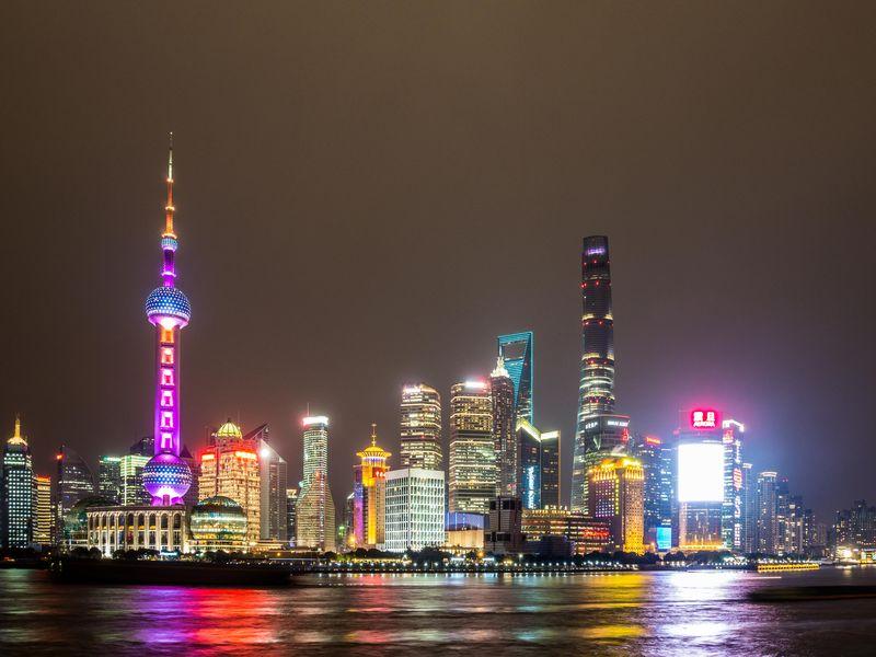 Chinafoto nachts