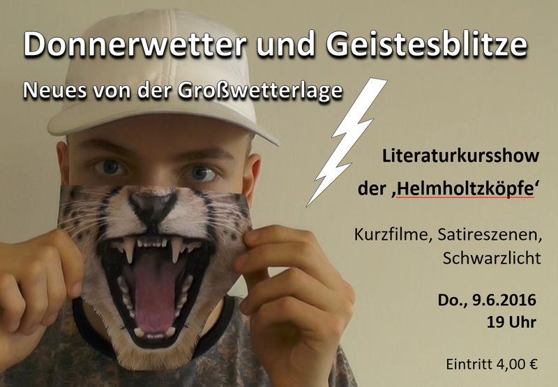 'Donnerwetter und Geistesblitze' Helmholtzköpfe Flyer1
